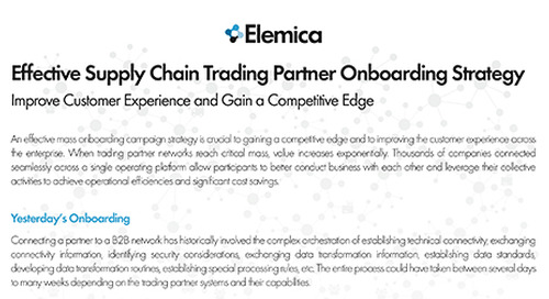Effective Supply Chain Trading Partner Onboarding Strategy