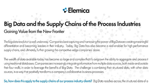 Big Data and the Supply Chains of the Process Industries