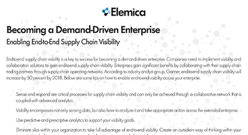 Becoming a Demand-Driven Enterprise