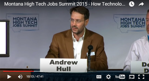 Andrew Hull, President and Founder of Elixiter, Participates in Montana High Tech Jobs Summit