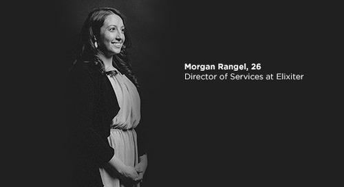 Morgan Rangel Accepts 20 Under 40 Award