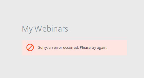 Marketo Integrated Webinar Errors
