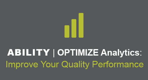 [Demo] ABILITY | OPTIMIZE Analytics: Improve Your Quality Performance