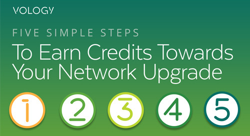 5 steps to earn credit toward network upgrades