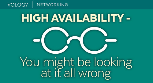 High Availability - You might be looking at it all wrong