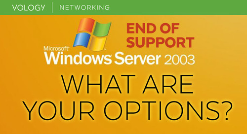 Windows Server 2003 End of Support - What Are Your Options?