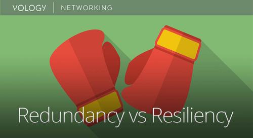 Redundancy vs Resiliency