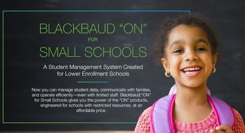 "Blackbaud ""ON"" for Small Schools"
