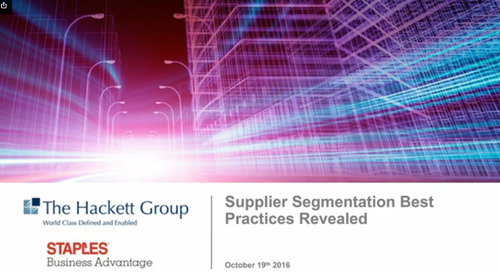 Webinar: Supplier Segmentation Best Practices Revealed