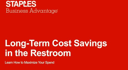 Webinar: Long Term Savings in the Restroom