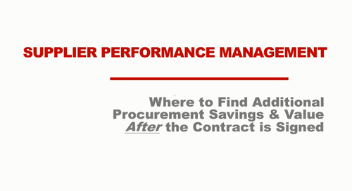 On-Demand Webinar: Where to Find Value from Suppliers After the Contract is Signed