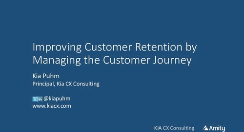 Improving Customer Retention by Managing the Customer Journey Webinar Recording
