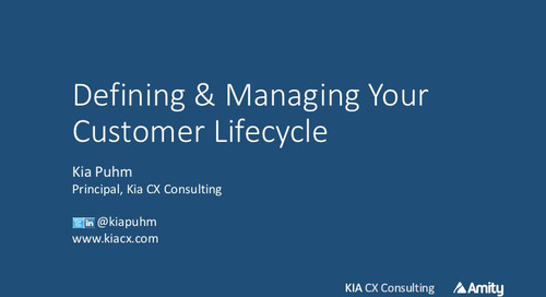 Defining and Managing Your Customer Lifecycle Webinar Slides