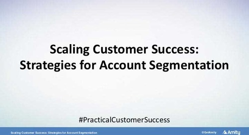 Scaling Customer Success: Strategies for Account Segmentation Webinar Recording