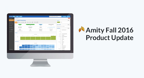 Amity Fall 2016 Product Update