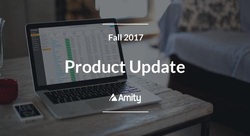 Amity Fall 2017 Product Updates