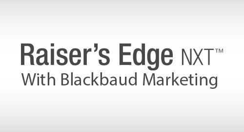 RECORDED WEBINAR: A Demonstration of Raiser's Edge NXT with Blackbaud Marketing