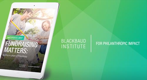npEXPERTS eBook: Fundraising Matters - Building a Culture of Philanthropy