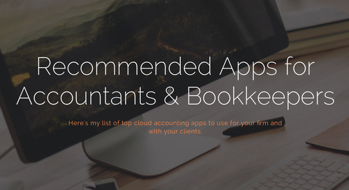 Recommended Apps for Accountants & Bookkeepers