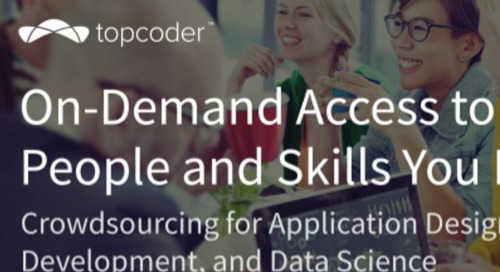 Topcoder: Crowdsourcing for Application Design, Development, and Data Science