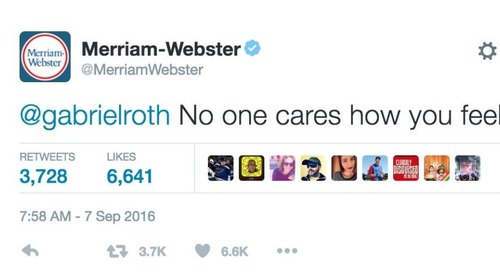 Merriam Webster Is Rocking Brand Personality on Twitter