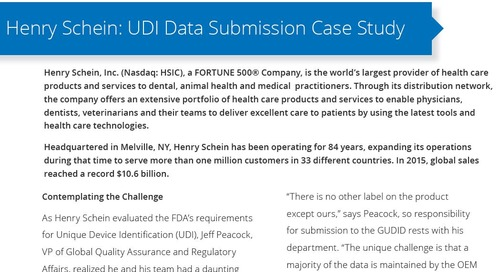 UDI Data Submission Case Study: Henry Schein
