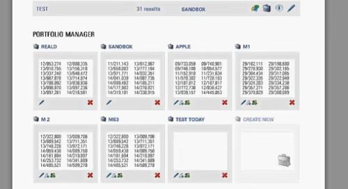LexisNexis PatentAdvisor Portfolio Manager