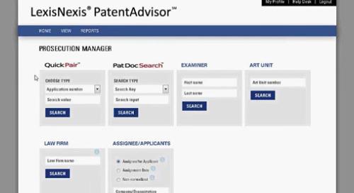 LexisNexis PatentAdvisor Prosecution Manager
