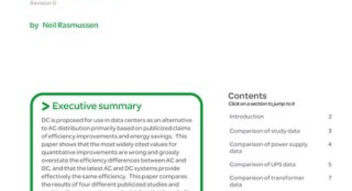 WP 151 - Review of Four Studies Comparing Efficiency of AC and DC Distribution for Data Centers
