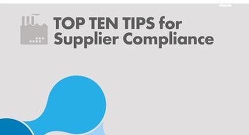 Top Ten Tips for Supplier Compliance