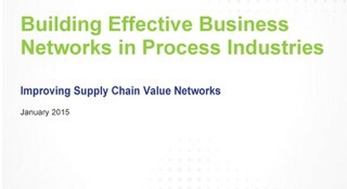 Building Effective Business Networks in Process Industries