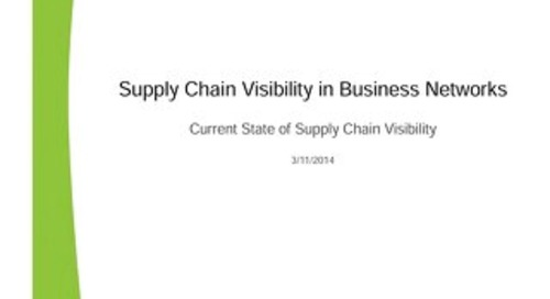 Supply Chain Visibility in Business Networks