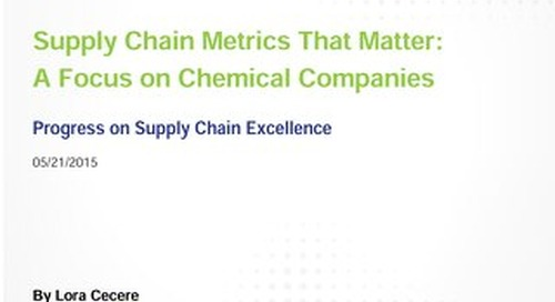 Supply Chain Metrics That Matter: A Focus On Chemical Companies