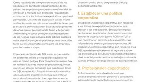 Desafíos Globales - Límites de Exposición Ocupacional