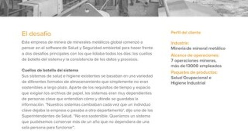 Minería global: implementación de Software de SySO