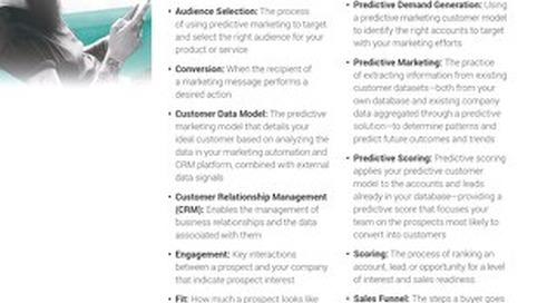 The Predictive Marketing Glossary