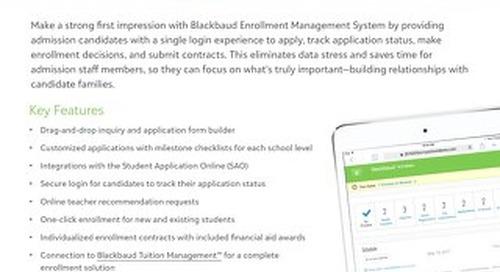onBoard: Enrollment Management System