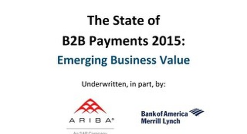 The State of B2B Payments 2015