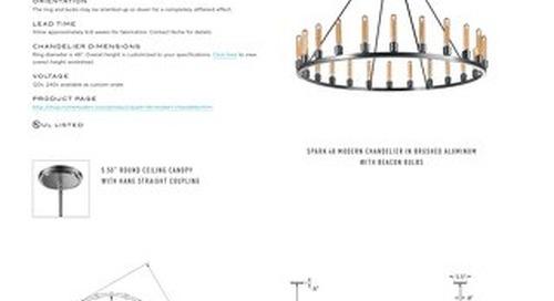 Spark 48 Chandelier - Tear Sheet