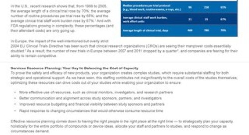 Planview Approach to Services Resource Planning for Clinical Research Organizations