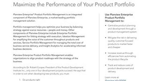 Planview Enterprise Product Portfolio Management