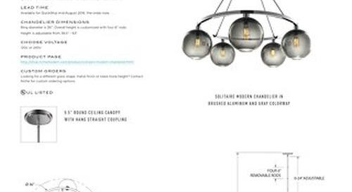Solitaire Chandelier - Tear Sheet