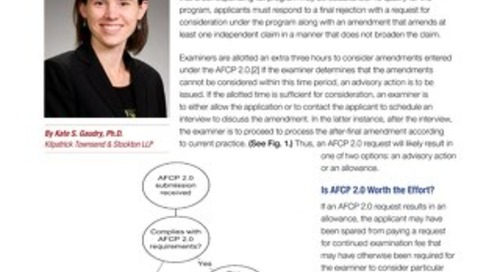After Final Consideration Program by Kate Gaudry (courtesy of Law360)