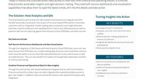 Host Analytics and Qlik: Turning Insights into Action