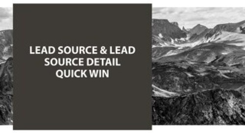 Quick Win Summit Lead Source