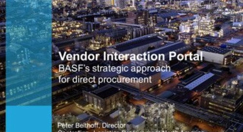 BASF Vendor Interaction Portal (VIP) Case Study