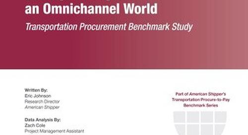 2016 Transportation Procurement Benchmark Study