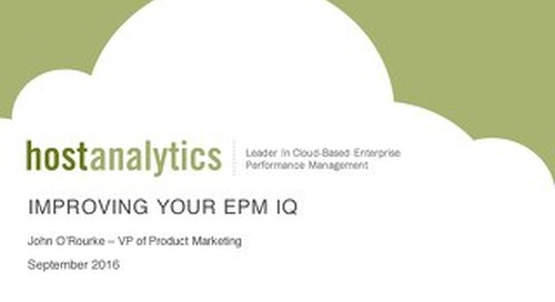 Improve Your EPM IQ