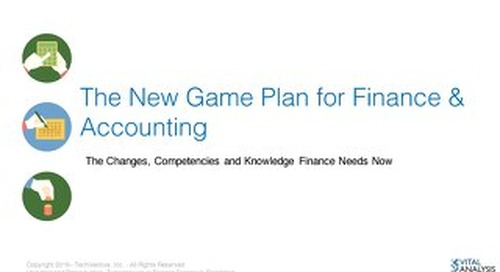 The New Game Plan for Finance and Accounting