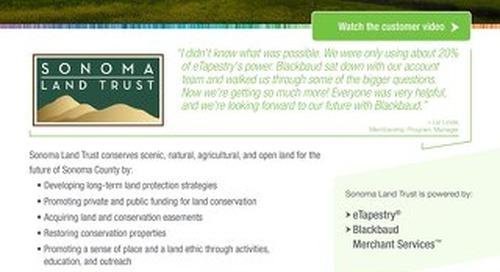 Sonoma Land Trust Customer Spotlight